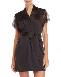 Rya Collection - Chantilly Lace Trim Robe - Lyst