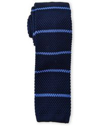 Burma Bibas - Bar Stripe Textured Knit Tie - Lyst