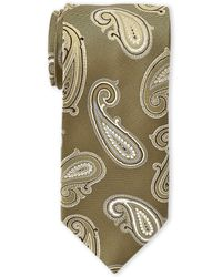 Guy Laroche - Gold Paisley Jacquard Silk Tie - Lyst