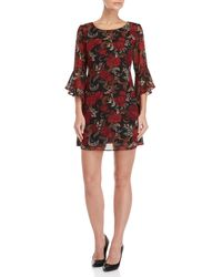 Connected Apparel - Petite Floral Bell Sleeve Dress - Lyst