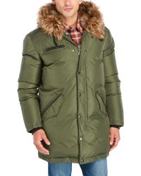 Pajar - Christian Hooded Down Parka With Faux Fur Trim - Lyst