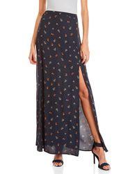 Dress Forum - Floral Printed Maxi Skirt - Lyst