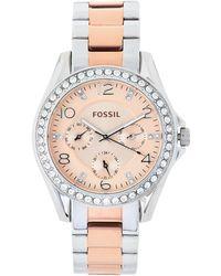 Fossil - Es4145 Two-tone Watch - Lyst