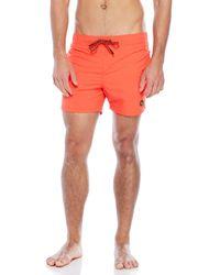 EFFEK - Neon Drawstring Swim Shorts - Lyst