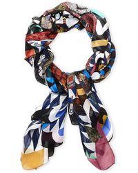 Christian Lacroix - Printed Silk Scarf - Lyst