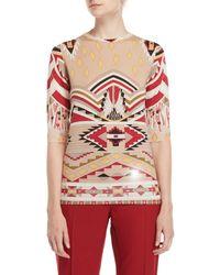 Leonard - Printed Half Sleeve Sweater - Lyst