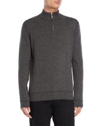 Forte - Stitched Mock Neck Cashmere Sweater - Lyst
