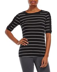 Cable & Gauge - Three-quarter Cage Sleeve Top - Lyst