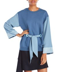 Alexis Mabille - Long Sleeve Kimono Sweatshirt - Lyst