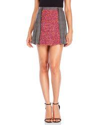 Mr & Mrs Italy - Pleated Mixed Media Mini Skirt - Lyst