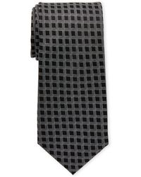 Karl Lagerfeld - Lattice Grid Silk Tie - Lyst