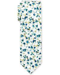 Original Penguin - White Adaire Floral Slim Tie - Lyst