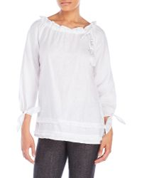 Symple NYC - Fringed-Trimmed Top - Lyst