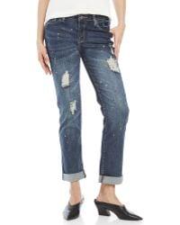 Earl Jean - Boyfriend Cuff Jeans - Lyst