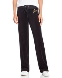 Juicy Couture | Drawstring Velour Pants | Lyst