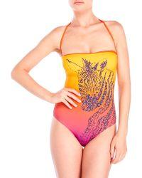 Jimmy Choo - Zebra Print One-Piece Swimsuit - Lyst