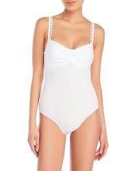 Annaclub by La Perla - Surplice One-Piece Swimsuit - Lyst