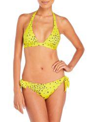 Jimmy Choo - American Printed Triangle Bikini - Lyst