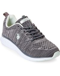 U.S. POLO ASSN. - Dark Grey & Mint Fana Knit Mesh Sneakers - Lyst