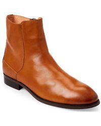 Zanzara - Cognac & Black Kahlo Leather Chelsea Boots - Lyst