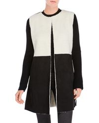 Cliche - Color Block Faux Shearling Jacket - Lyst