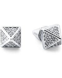 Eddie Borgo - Silver-tone Accented Pyramid Stud Earrings - Lyst