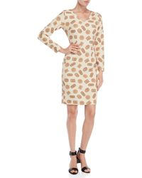 Ottod'Ame - Biscuit Print Long Sleeve Sheath Dress - Lyst