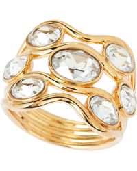 Swarovski - Gold-tone Wide Fragment Ring - Lyst