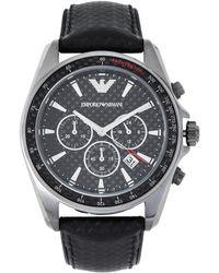 Emporio Armani - Ar6122 Gunmetal & Black Watch - Lyst