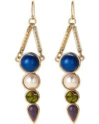 Lulu Frost - Gold-tone Eartha Drop Earrings - Lyst