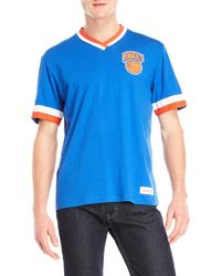Mitchell & Ness - New York Knicks Overtime V-neck Tee - Lyst