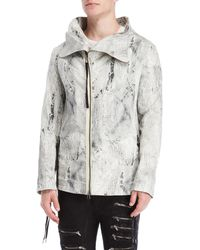 de4f1d1638ff Lyst - Army Of Me Crackle Spread Collar Jacket in Black for Men