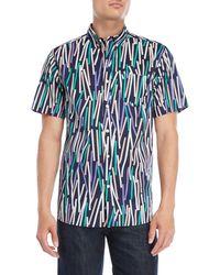 Oxford Lads - Broken Stripes Short Sleeve Shirt - Lyst