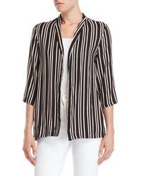 Angie - Stripe Soft Blazer - Lyst