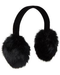 Surell - Real Rabbit Fur Earmuffs - Lyst