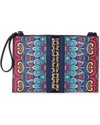 Nanette Lepore - Navy Printed Tabetha Convertible Crossbody - Lyst