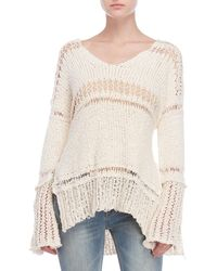 Free People - Belong To You Open Knit Sweater - Lyst