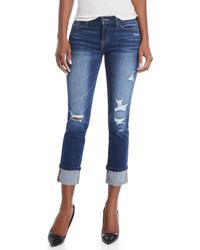 Flying Monkey - Low-rise Distressed Jeans - Lyst