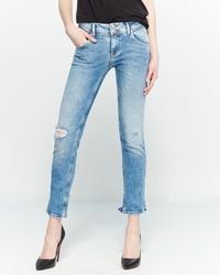 530ab441aee Hudson Jeans Collin Flap Pocket Skinny Jeans in Blue - Lyst
