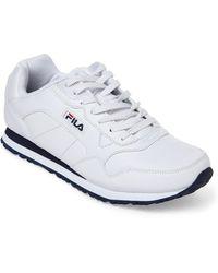 909e96bbe7ec Fila - White   Navy Cress Jogger Sneakers - Lyst