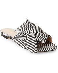694985dc94d Catherine Malandrino - White   Black Open Toe Timey Mules - Lyst