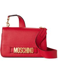 Moschino | Red Leather Crossbody | Lyst