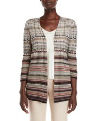 NIC+ZOE - Color Scale Open Cardigan - Lyst