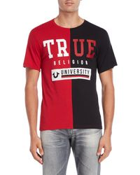 True Religion - University Split Tee - Lyst