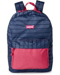 Levi's - Navy Lost Coast Striped Backpack - Lyst
