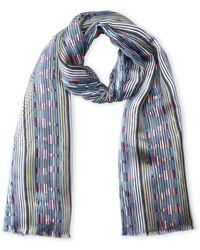 Armani - Stripe Silk Scarf - Lyst