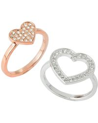 Swarovski - Cupid Two-ring Set Size 7.25 - Lyst