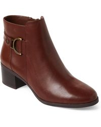 Anne Klein - Cognac Jaysie Leather Ankle Booties - Lyst