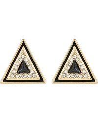 House of Harlow 1960 - Gold-Tone Triangle Earrings - Lyst