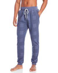 Kenneth Cole Reaction - Plaid Jogger Pajama Pants - Lyst